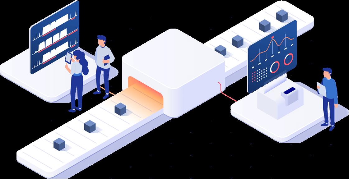 Schéma sběru dat ve výrobě